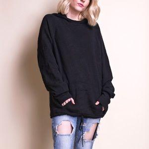 TSE black cashmere hooded minimalist sweater